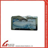 raised for customer's logo blank license plate holder,auto license plate frame, american license plate holderfor bike ,car