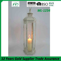 New arrival wedding favor and garden metal candle lantern with antique finish ML-1234