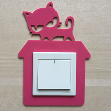 Cute Animal On-off Wall Sticker Home Decoration Switch Stickers