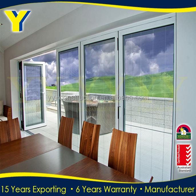 Custom Design 4 Slabs Interior Folding Doors Bifold Closet Doors With Hinge For Folding Door