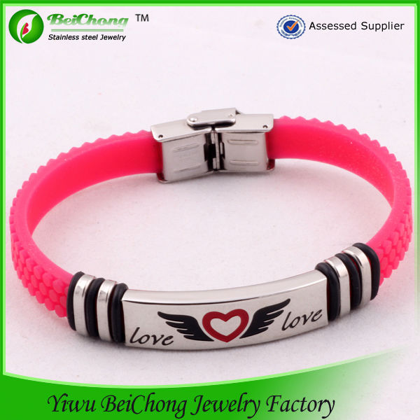 latest design new fashion girls rubber band bracelet patterns