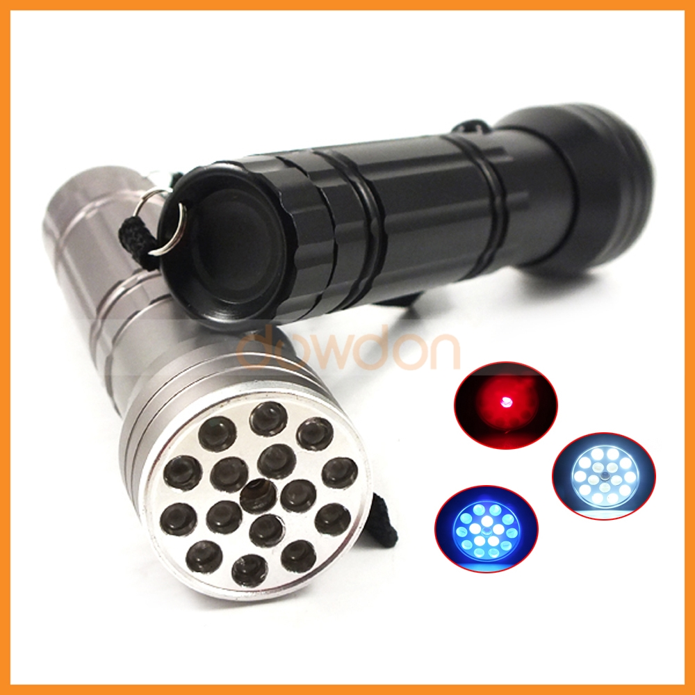 3 in 1 16 LED UV Blacklight Flashlight with Red Laser Pointer