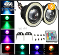 3.5inch fog headlight light RGB angle eye rings Daytime Running Lights With Remote controller