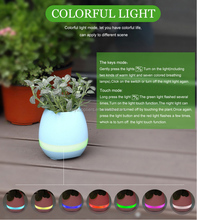 2017 smart Bluetooth flower pot shape music plant speaker
