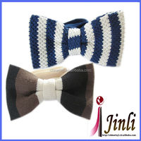 100% silk knitted rhinestone mini craft and gift kid bow