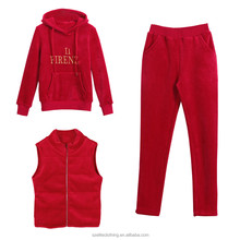 Newest Style Women's Red Warm Tracksuits Manufacturer