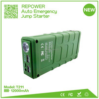 Hot selling four cell lithium battery 600A peak current mighty 12V car battery charger jump starter