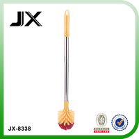 plastic toilet brush for toilet cleaning with round brush head