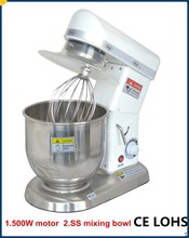 7 litre planetary food mixer with stainless bowl