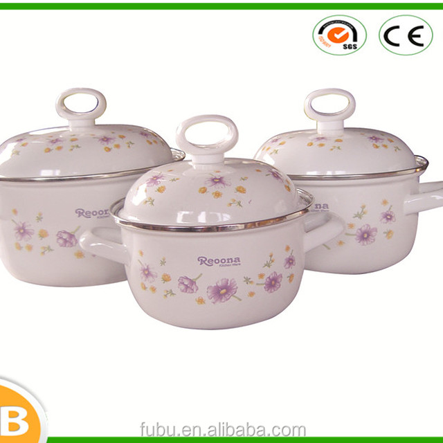 With hollow handle small size 12/14/16cm Enamel Casserole