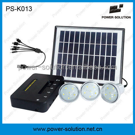 Portable indoor solar power kit with phone charger for no electricity areas