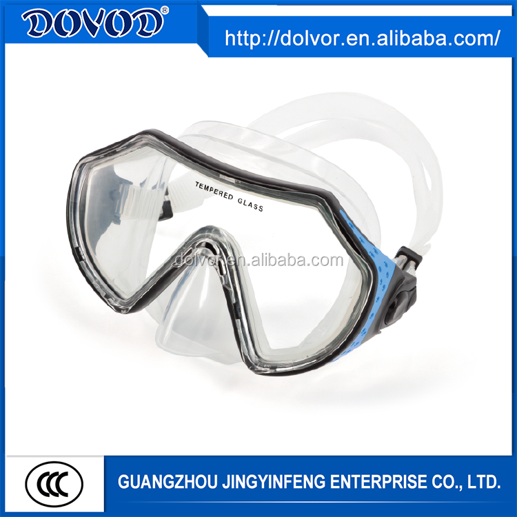 Customized silicone or PVC diving mask diving equipment beautiful diving mask
