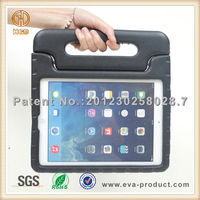 Black color Super protect anti shock case with stand for ipad air case