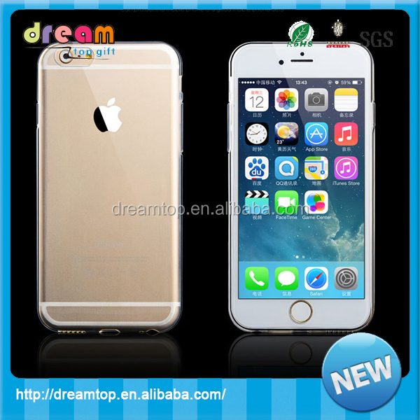 Wholesale transparent fashion soft mobile phone cover for iphone 6