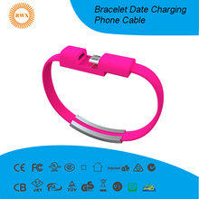 2018 hot selling Bracelet date/charger cable usb for phone shenzhen
