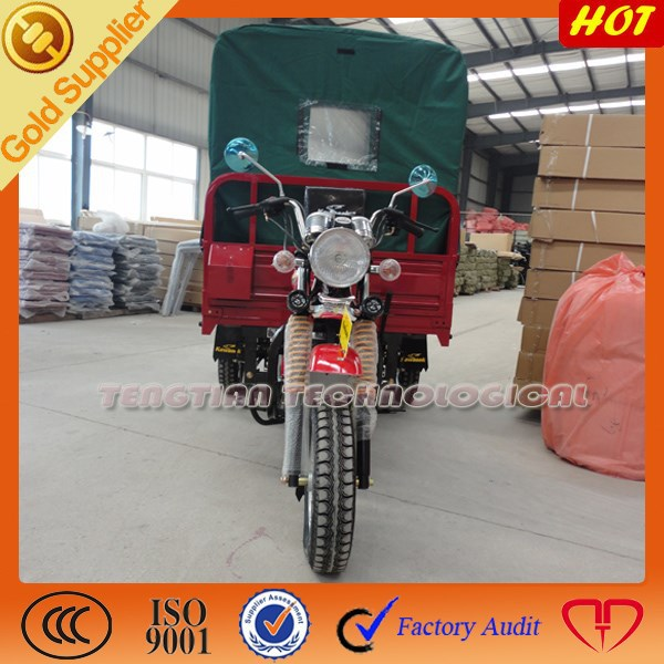 2014 new Chinese 200cc 400cc gasoline three wheel motorcycle for sale from China/big cargo tricycle