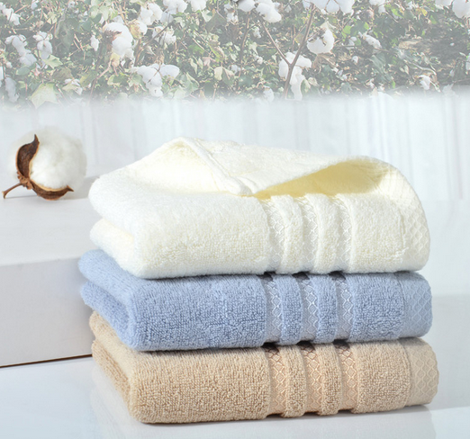 100% Combed Cotton Solid Color Dobby Border Bath Towels for hotel