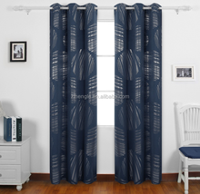 High end modern silver circles indoor jacquard fabric door curtain