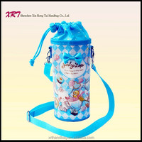 Plastic Shoulder Strap Water Bottle Bag