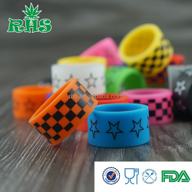 USA hot sale decorative and protection silicone vape band customized logo service vape band design your logo