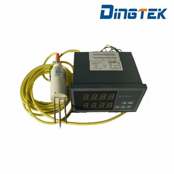 Electronics digital and analog output soil temperature moisture meter