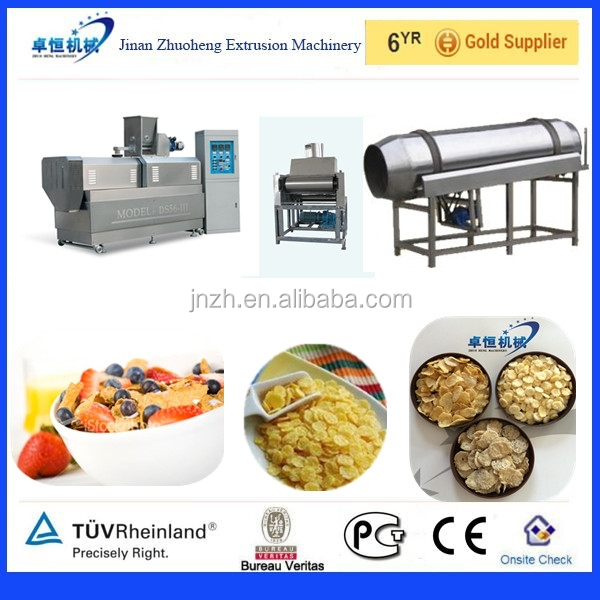 Roasted corn flakes machine / corn flakes production line
