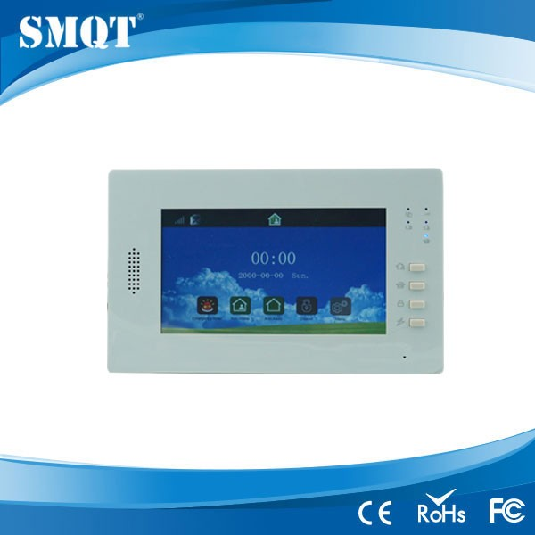 EB-839 Multi-languages Optional 7 Inch Touch Screen wireless gsm security alarm systems