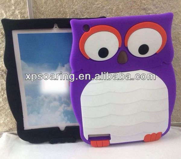 Cute silicone Animal Case for iPad 2 iPad 3 iPad 4