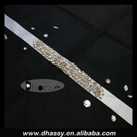 2014 New Design Handmade Bling Bling Beaded Bridal Sash Belt For Wedding Dress