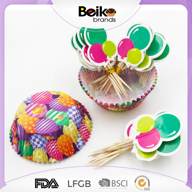 Top quality colorful paper liners wholesale cupcake box happy birthday cupcake wrappers