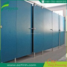 Toilet partition 12mm Compact HPL/High pressure laminates with solid color surface
