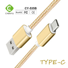 New metal nylon braided usb 3.0 type c mobile phone quick charging data cable price