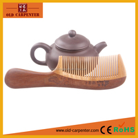 Hand-Made Engraving Flower Electric Resistance Wooden Beard Comb