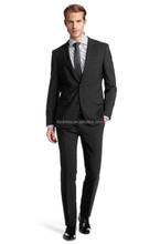 Two Buttons Double Vents Charcoal Loose Fit Customized Men's Business Suits (Jacket+Pants+Tie) BS127 Costume