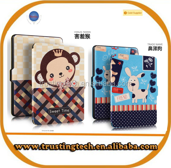 Shy Monkey and Snot dog Cartoon PU Leather Case For Ipad mini