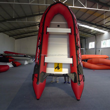 PVC material plywood hull flat bottom inflatable boat 470 with CE certificate
