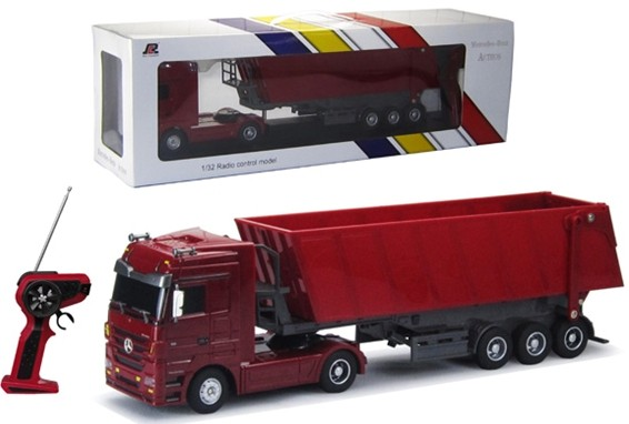 2014 best selling toys Mercedes-Benz licensed 1:32 6 CH RC dump truck model