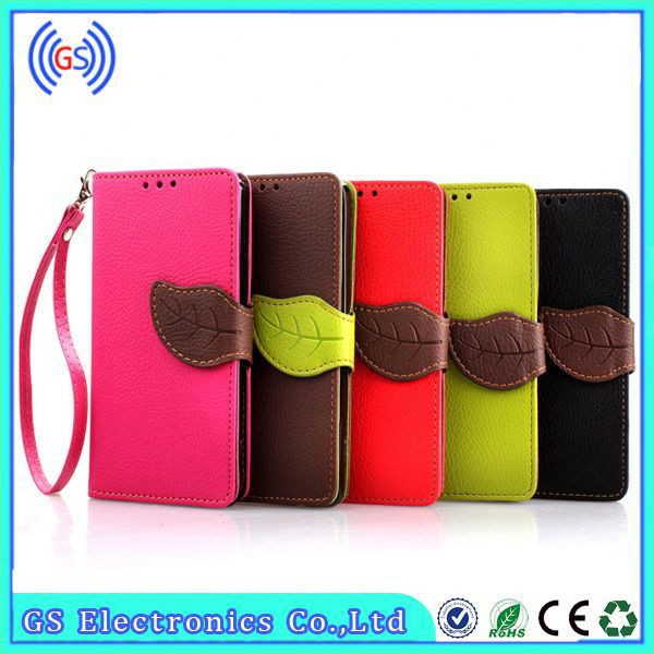 Products China Leaf Design Wallet Leather Card Slot Holder Case For ZTE Z933 Fashion Phone Accessory