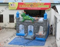bouncy inflatable dinosaure castle, funny inflatable combo
