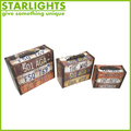 mini wooden disposable the Stars and the Stripes suitcase gift box