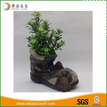 Waterproof Resin Shoe Garden Planting Pot