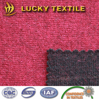 Double sided knit wool fabric for coat
