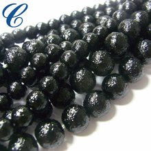 Glass black beads for craft,jewelry making