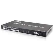 Preto concha de metal, 8 portas mini HDMI splitter 1.4 1*8 1 entrada de saída de 8 made in China