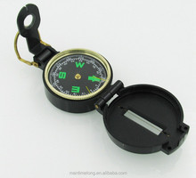 Private outdoor compass Multifunction American compass Clamshell Army Green compass with plastic cover