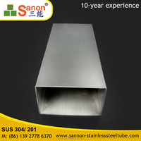 Welded stainless steel Rectangular ss304 316 pipe tube China Manufacturer
