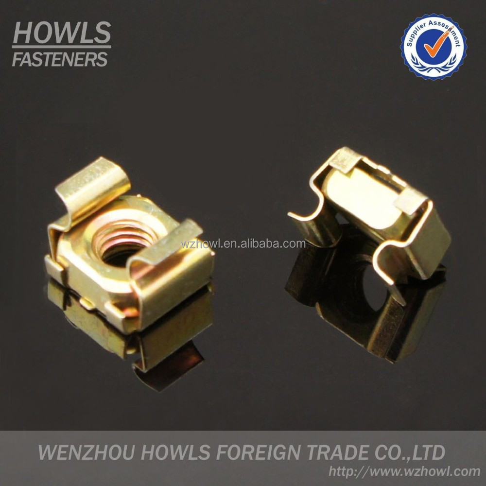 High quality M3,M4,M5,M6,M8,M10,M12 yellow zinc plated carbon steel cage nut