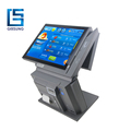 Multi Function 15 Inch Dual Screen Pos With 58mm Printer/RFID/QR Reader