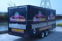 Mobile Outdoor Hot Chocolate & Sweets & Candy Food Making Stands Machine Trailer