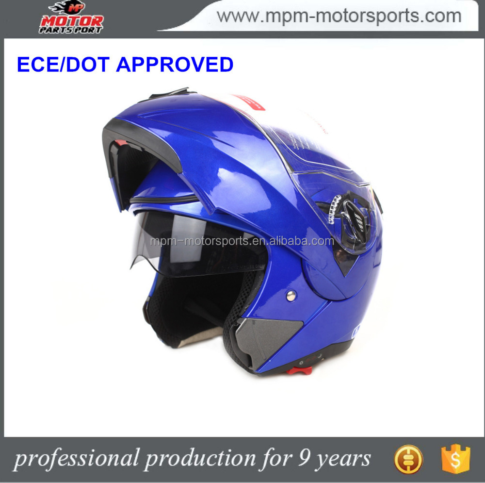 Motorcycle double visor dot Flip up helmet